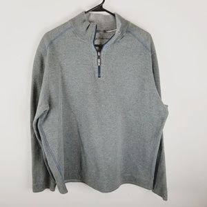 Tommy Bahama grey half zip sweater jacket XL